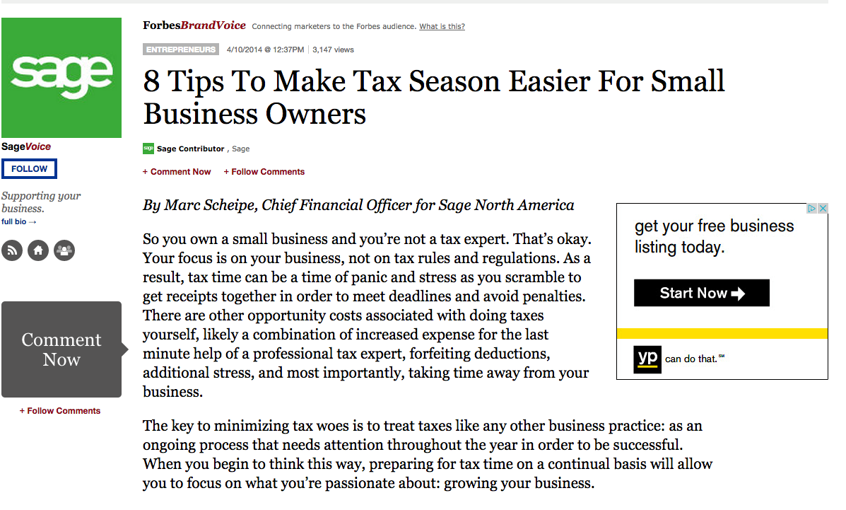 8 Tips to Make Tax Season Easier for Business Owners